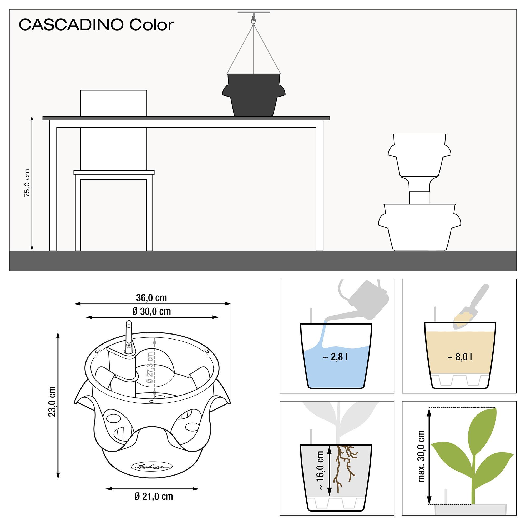 CASCADINO Color Single hanging planter slate - Image 2