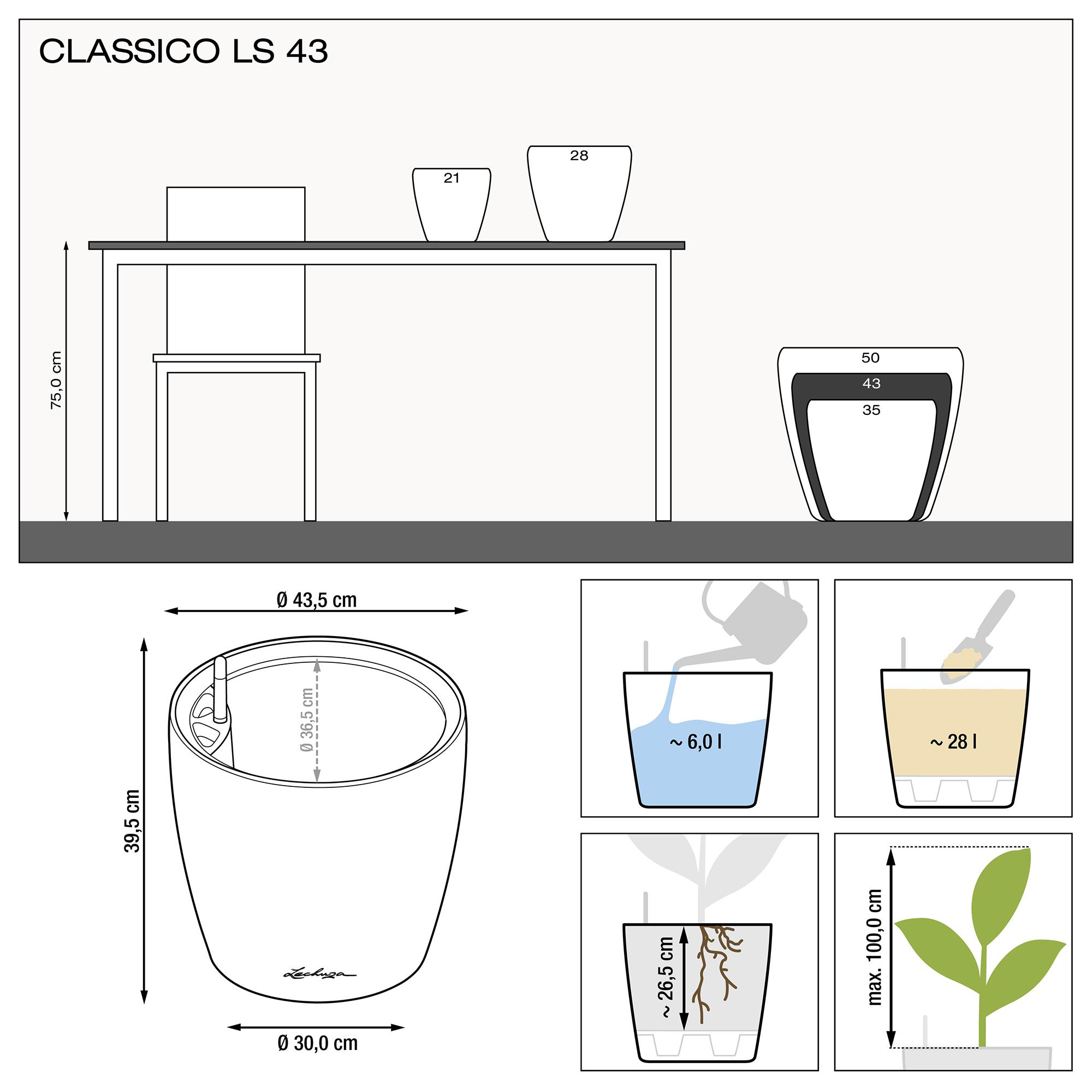 CLASSICO LS 43 black high-gloss - Image 3