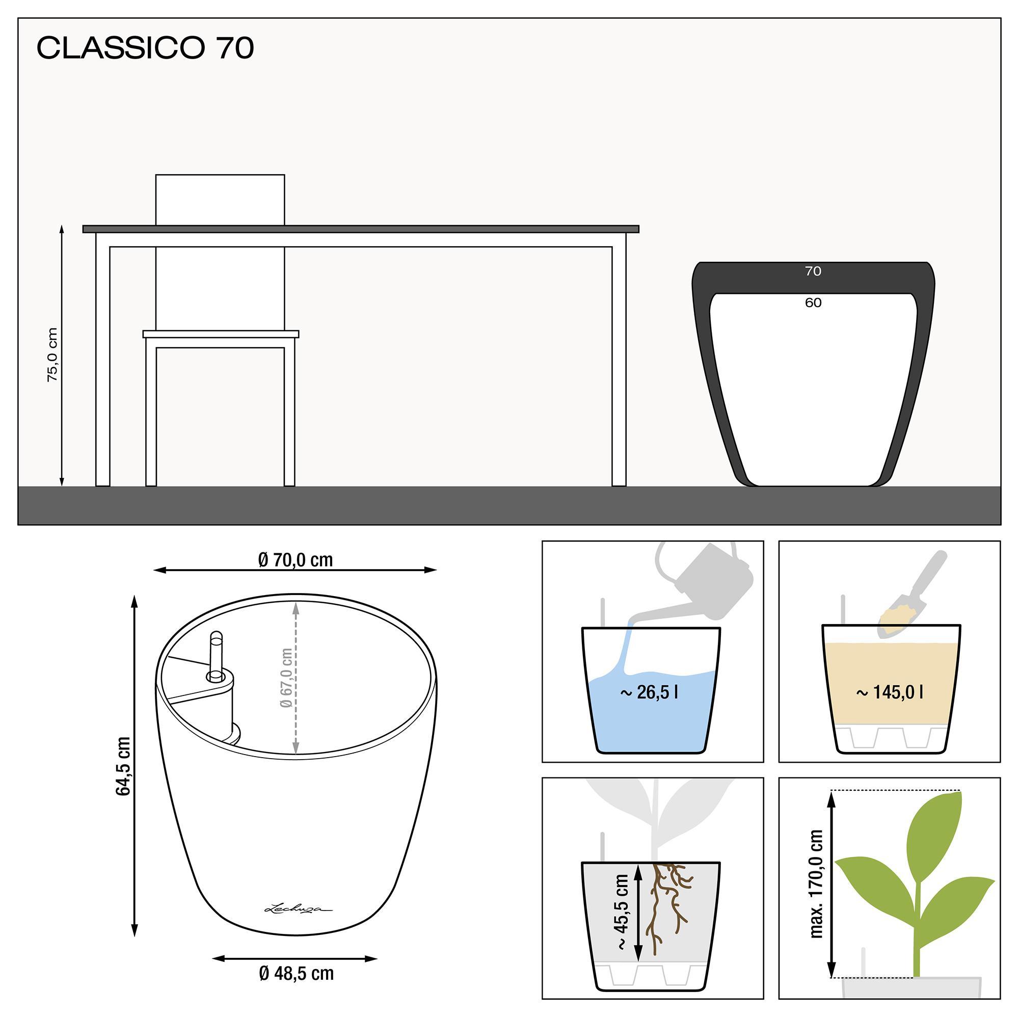CLASSICO 70 noir brillant - Image 2