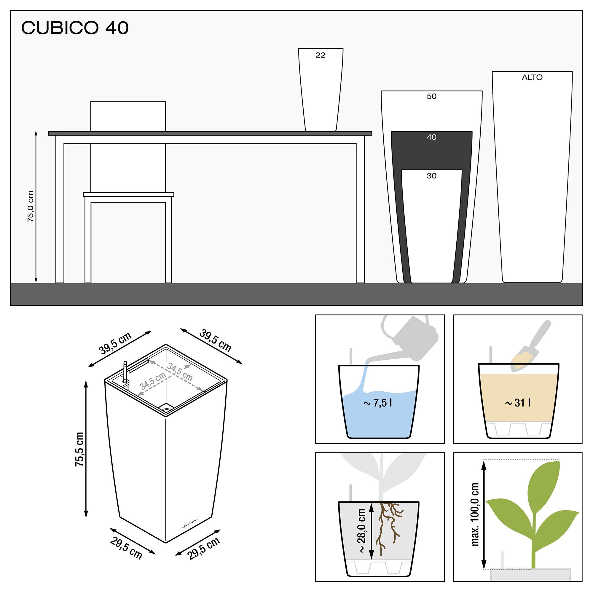 CUBICO 40 noir brillant - Image 3
