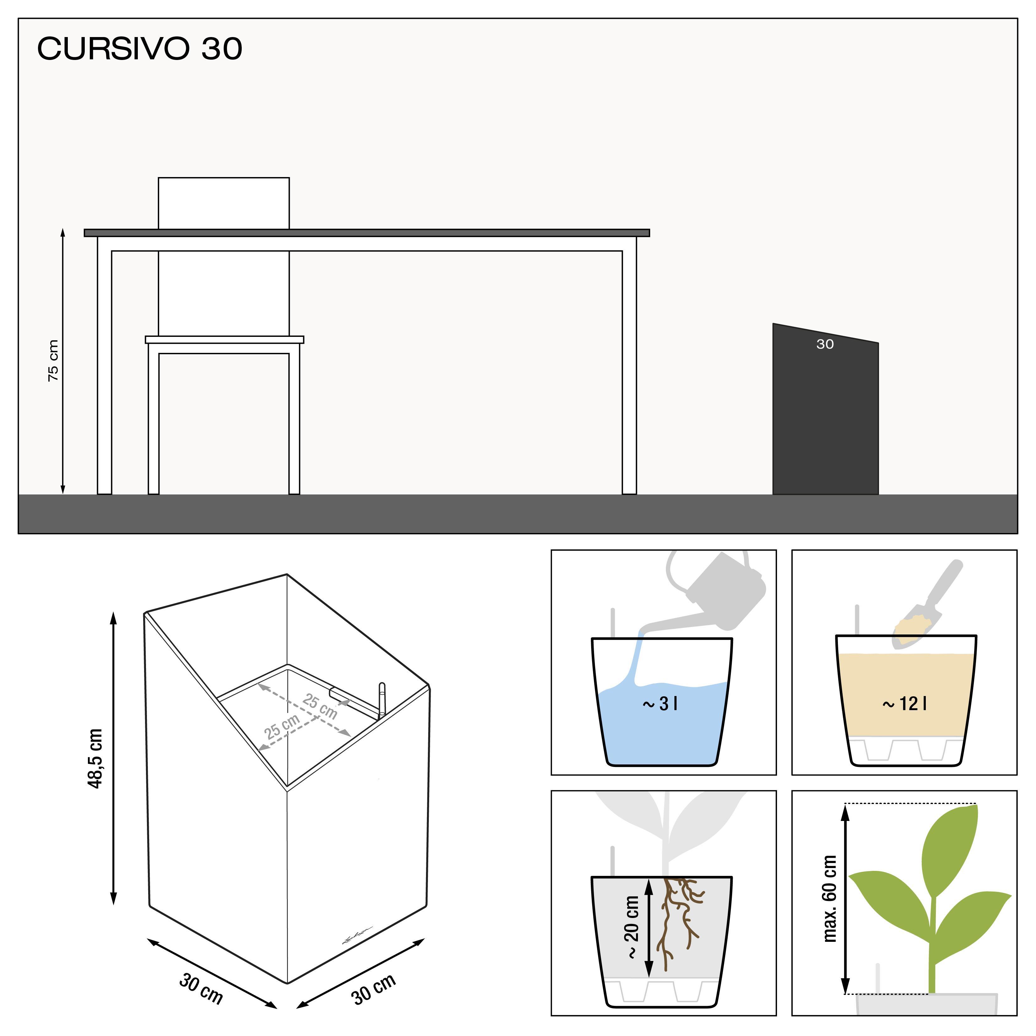 CURSIVO 30 weiß hochglanz - Bild 3