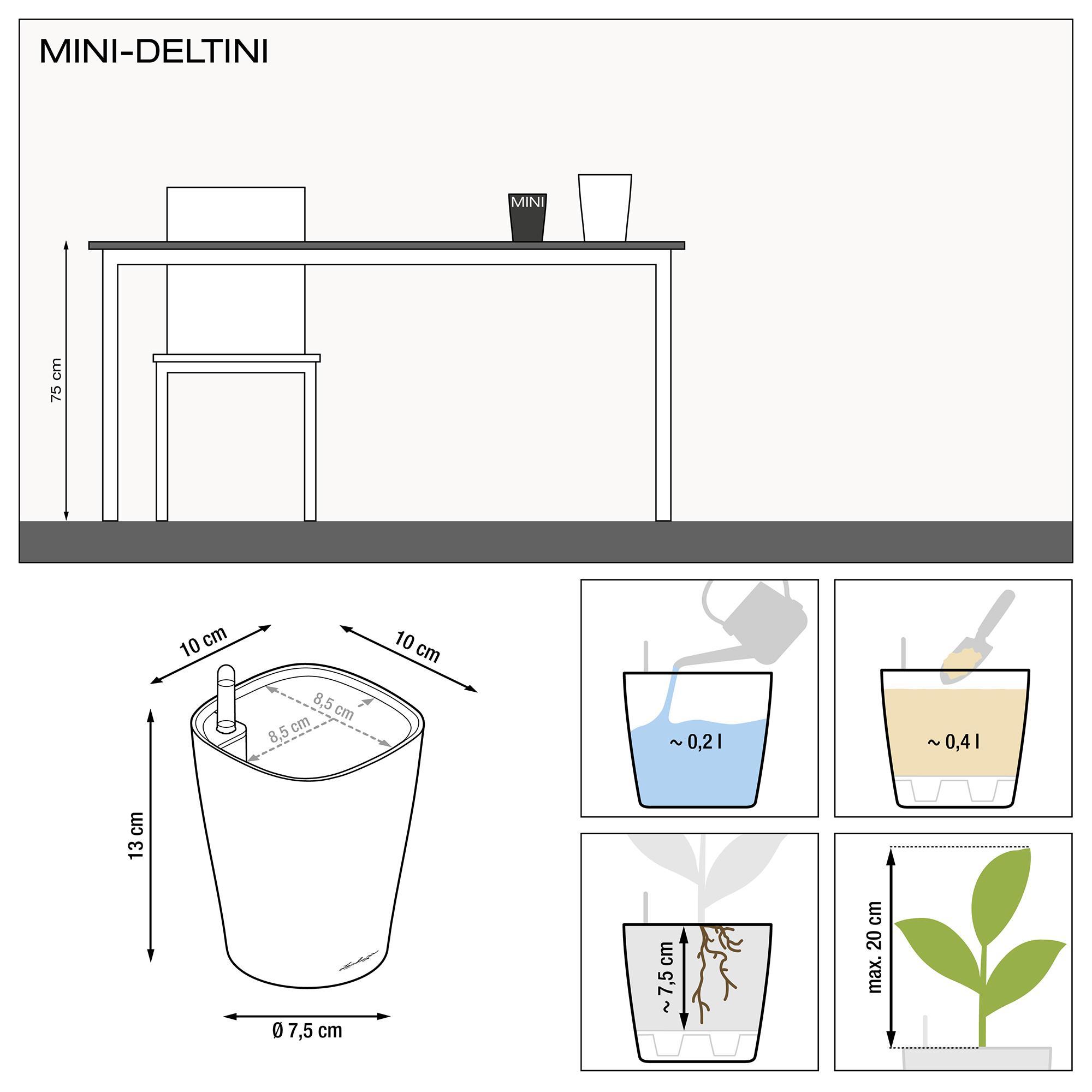 MINI-DELTINI серо-коричневый блестящий - изображение 3