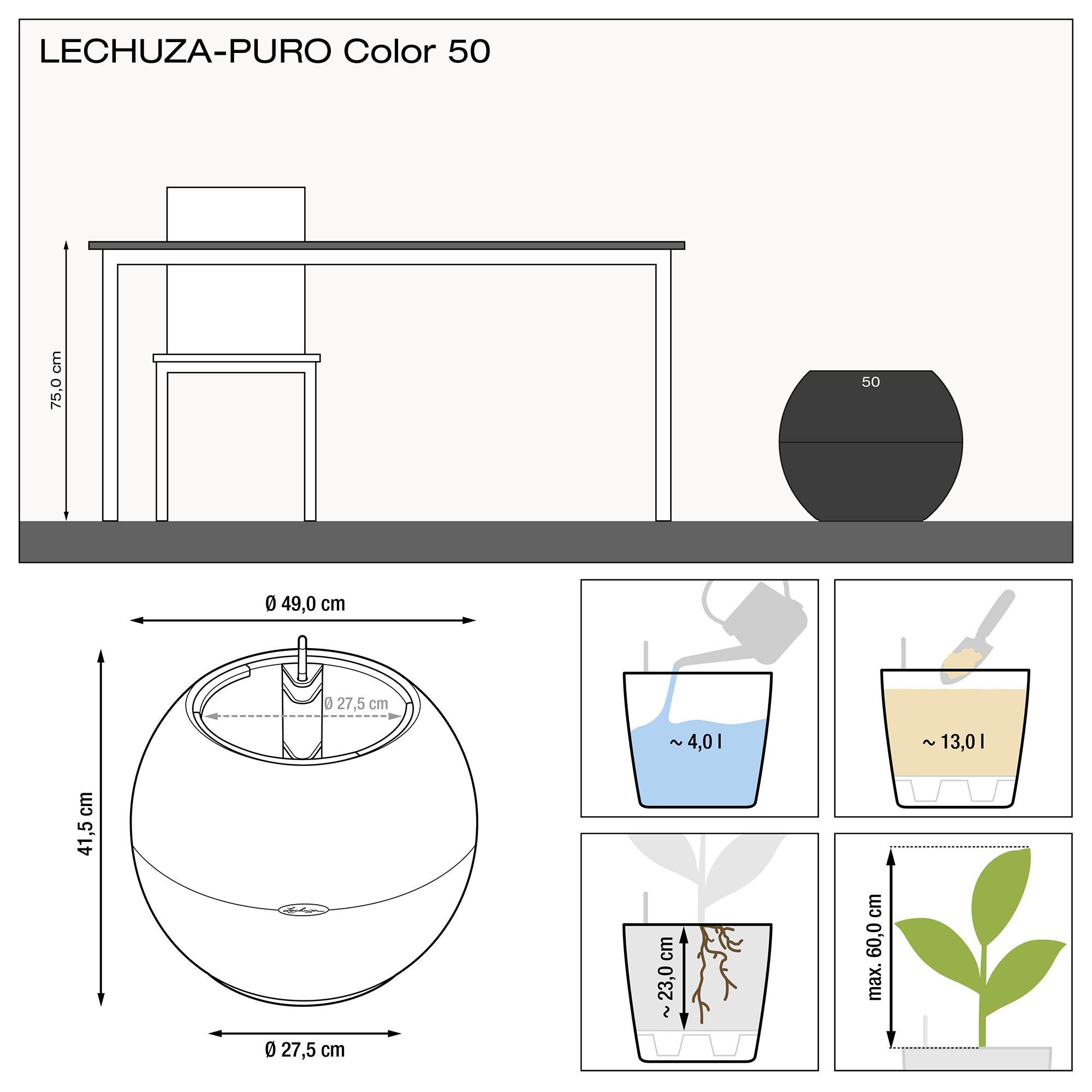LECHUZA-PURO Color 50 slate - Image 3