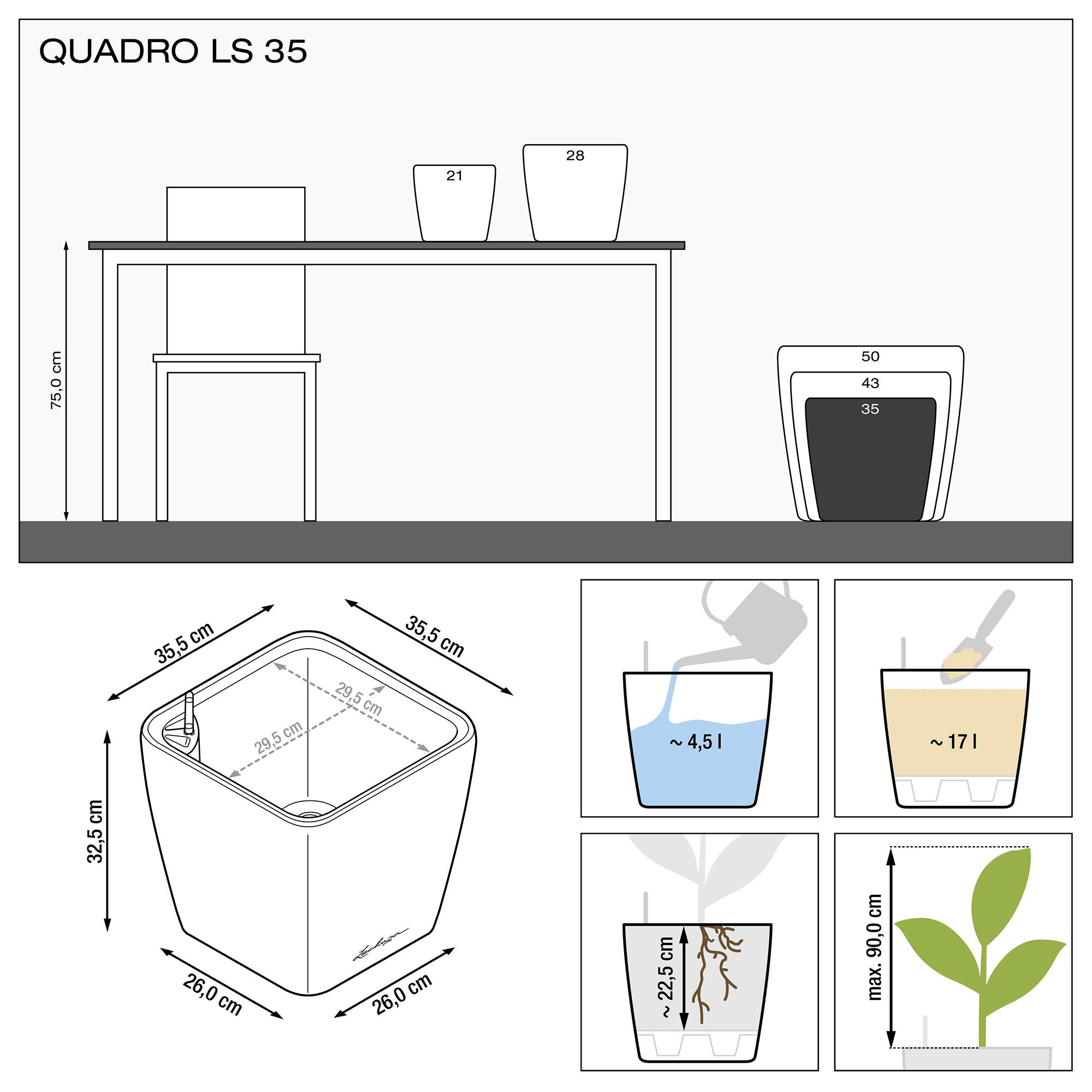 QUADRO LS 35 Кофе металлик - изображение 3