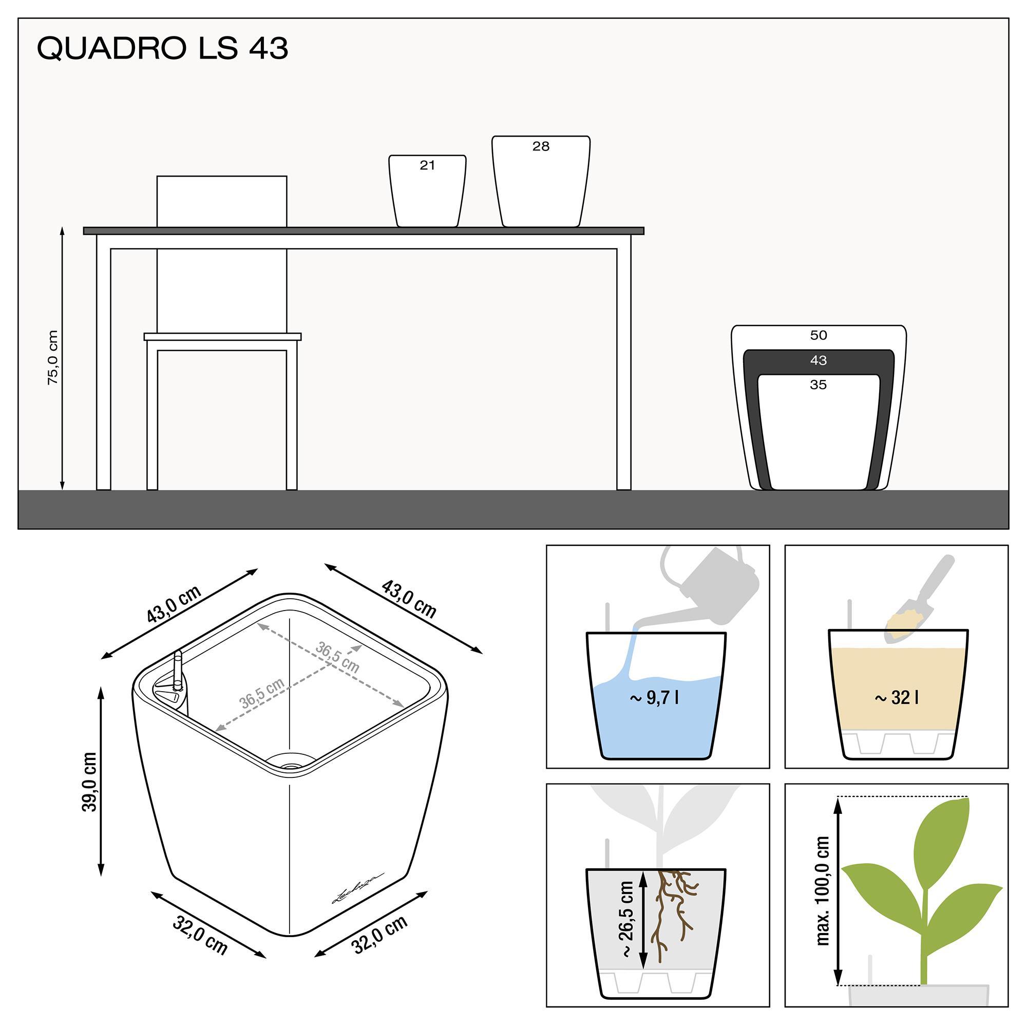 QUADRO LS 43 Антрацитовый металлик - изображение 3