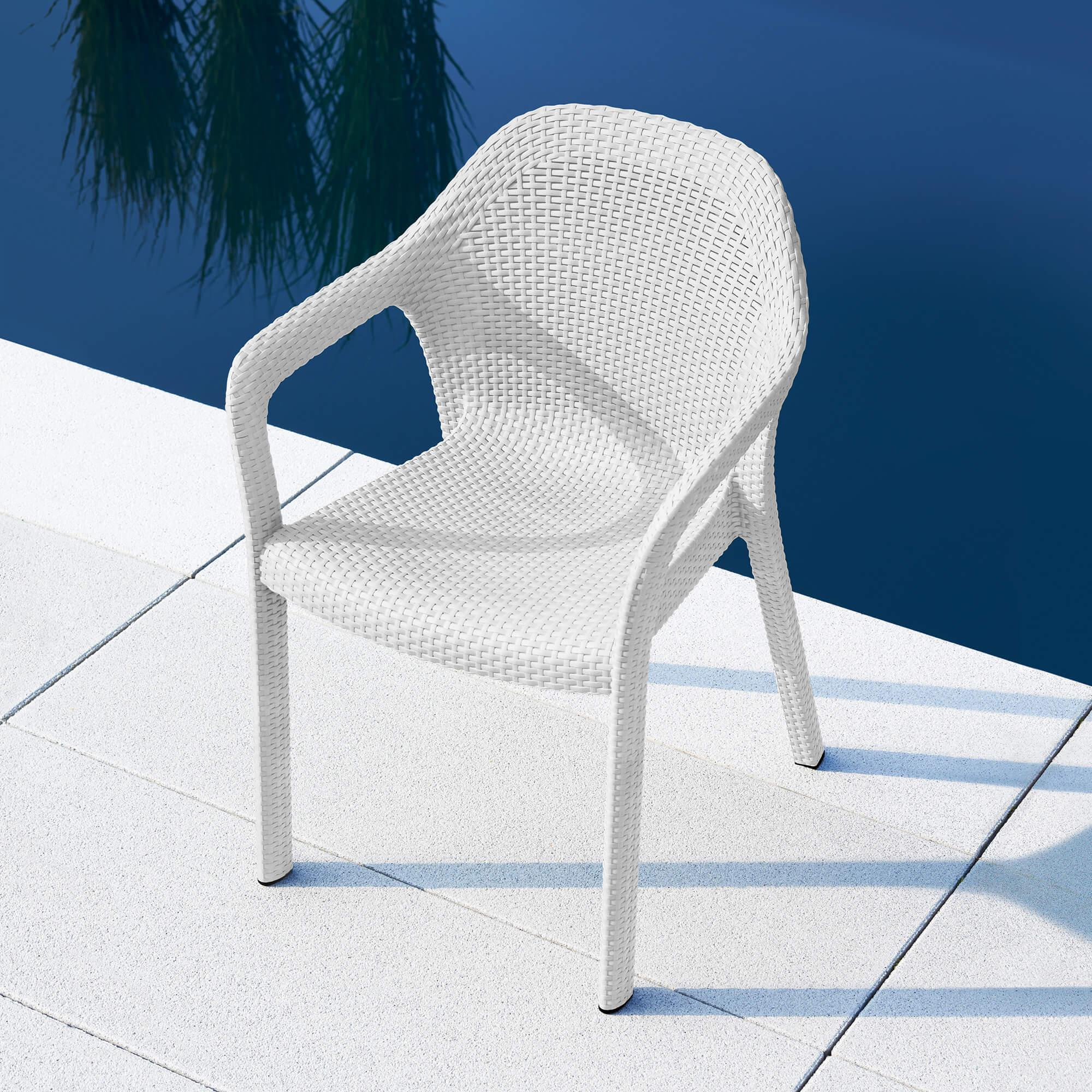 Chaise empilable moka - Image 9