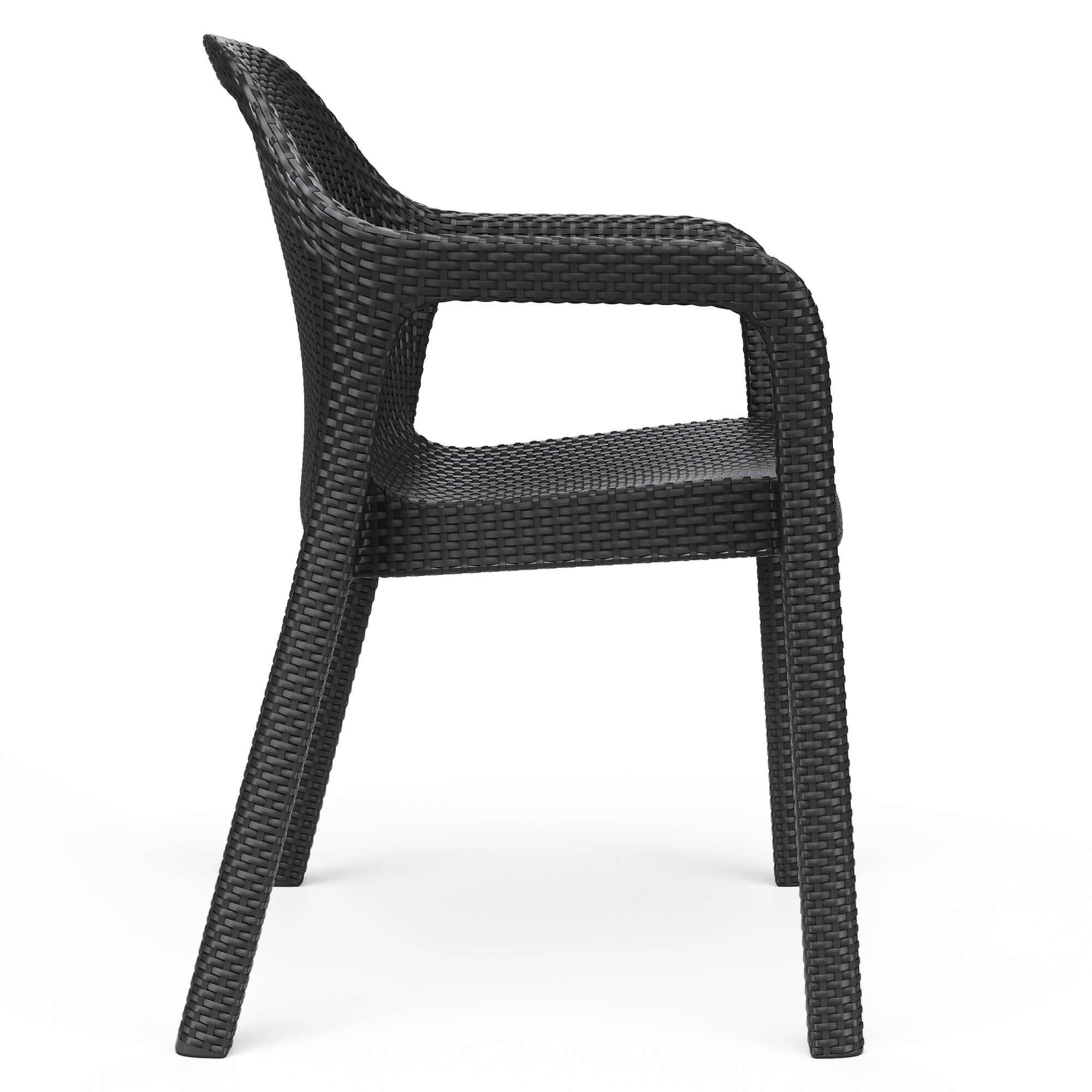 Chaise empilable moka - Image 3