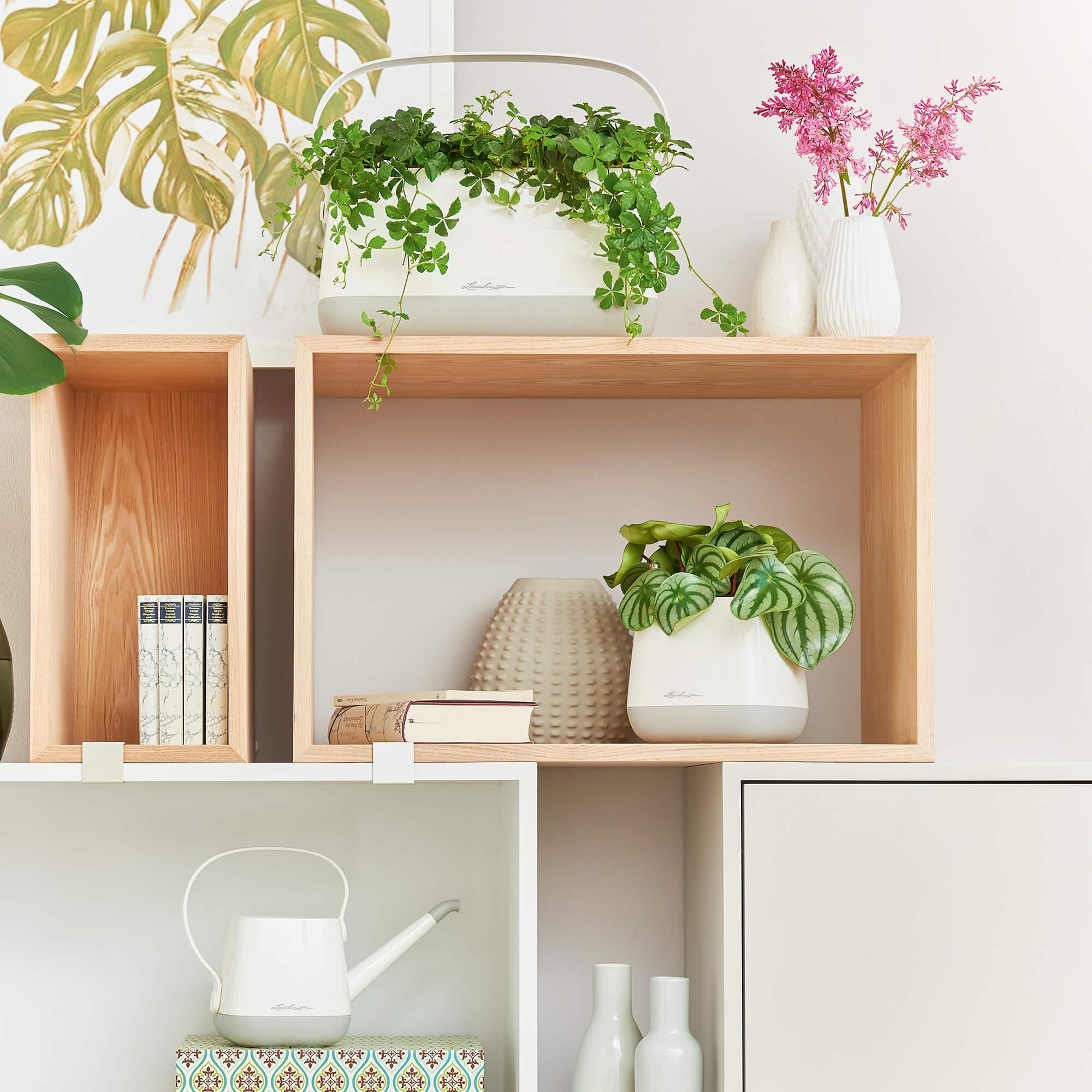 YULA planter white/gray semi-gloss - Image 8