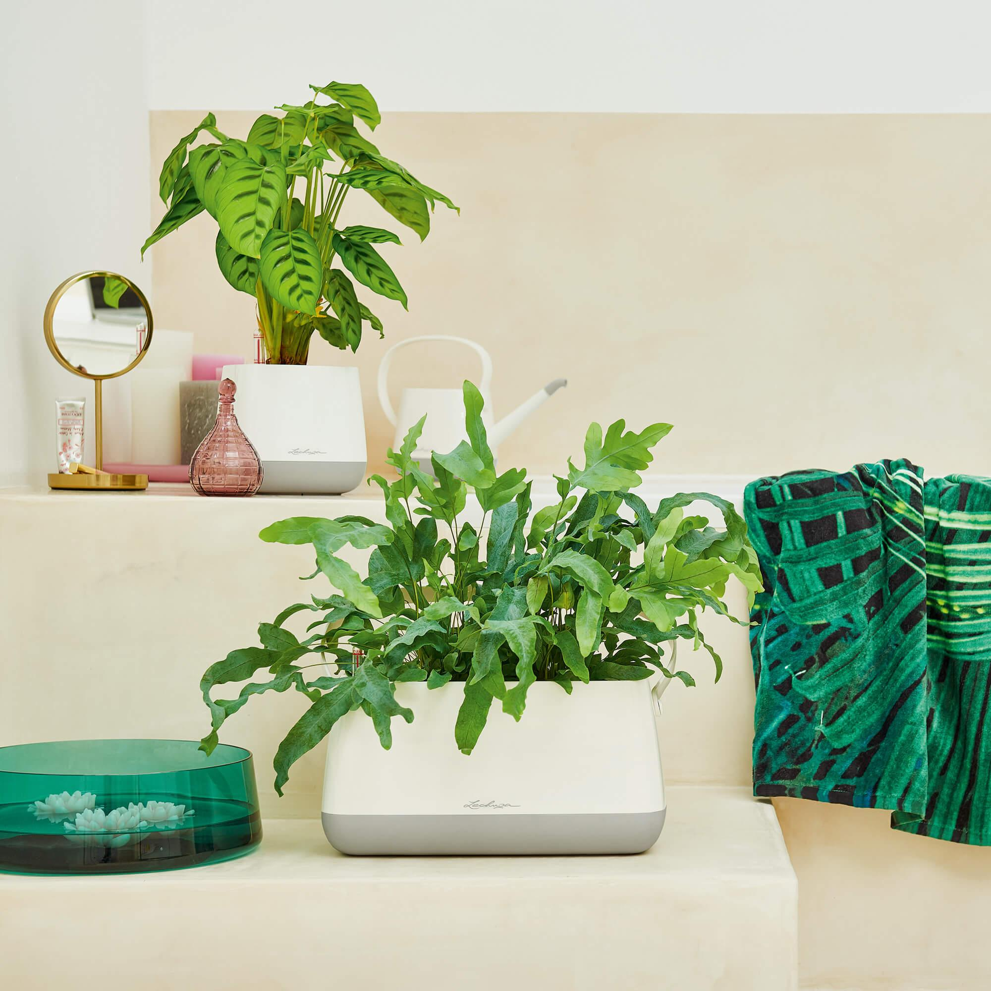 YULA planter white/gray semi-gloss - Image 9