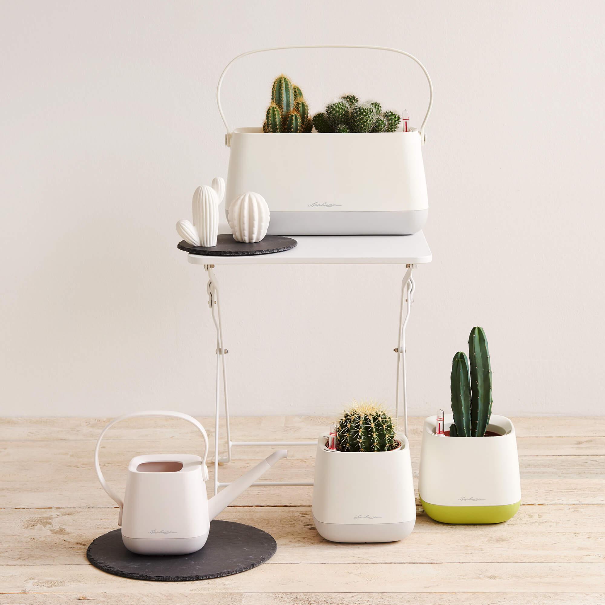 YULA planter white/gray semi-gloss - Image 10