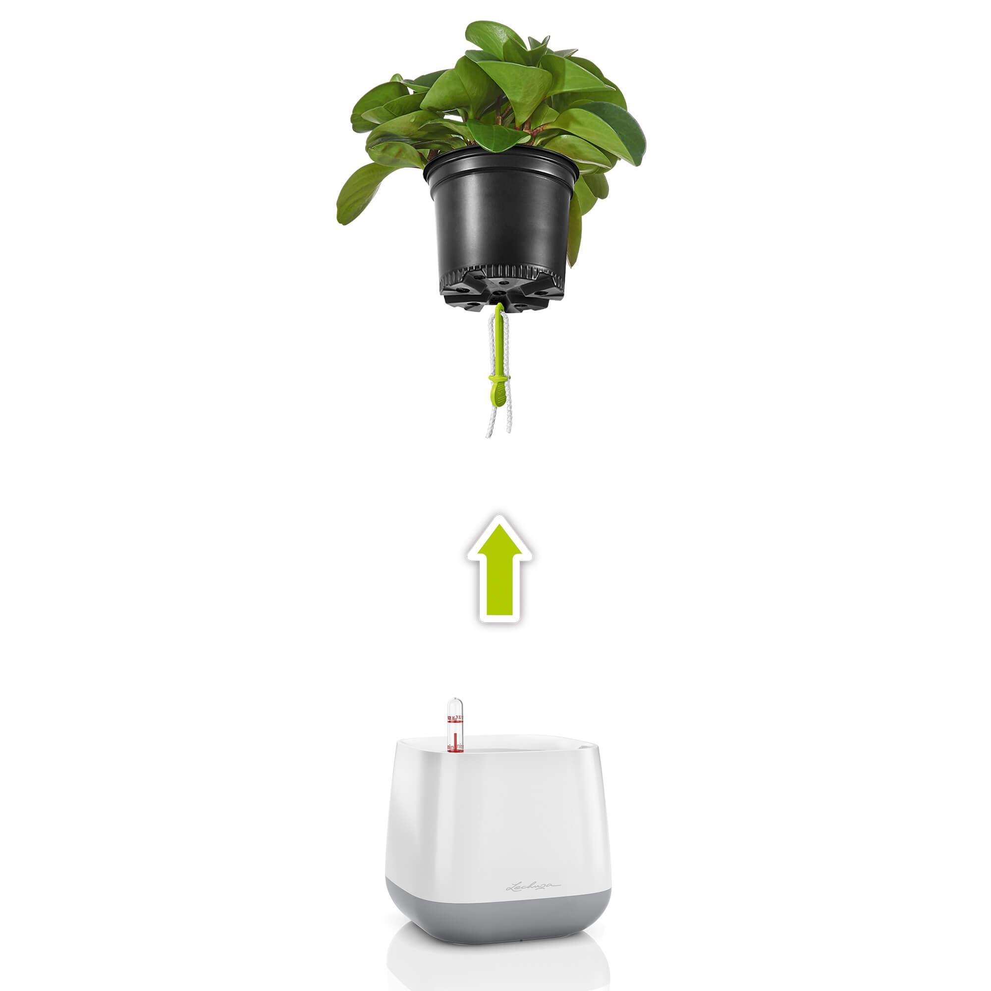YULA planter white/gray semi-gloss - Image 3