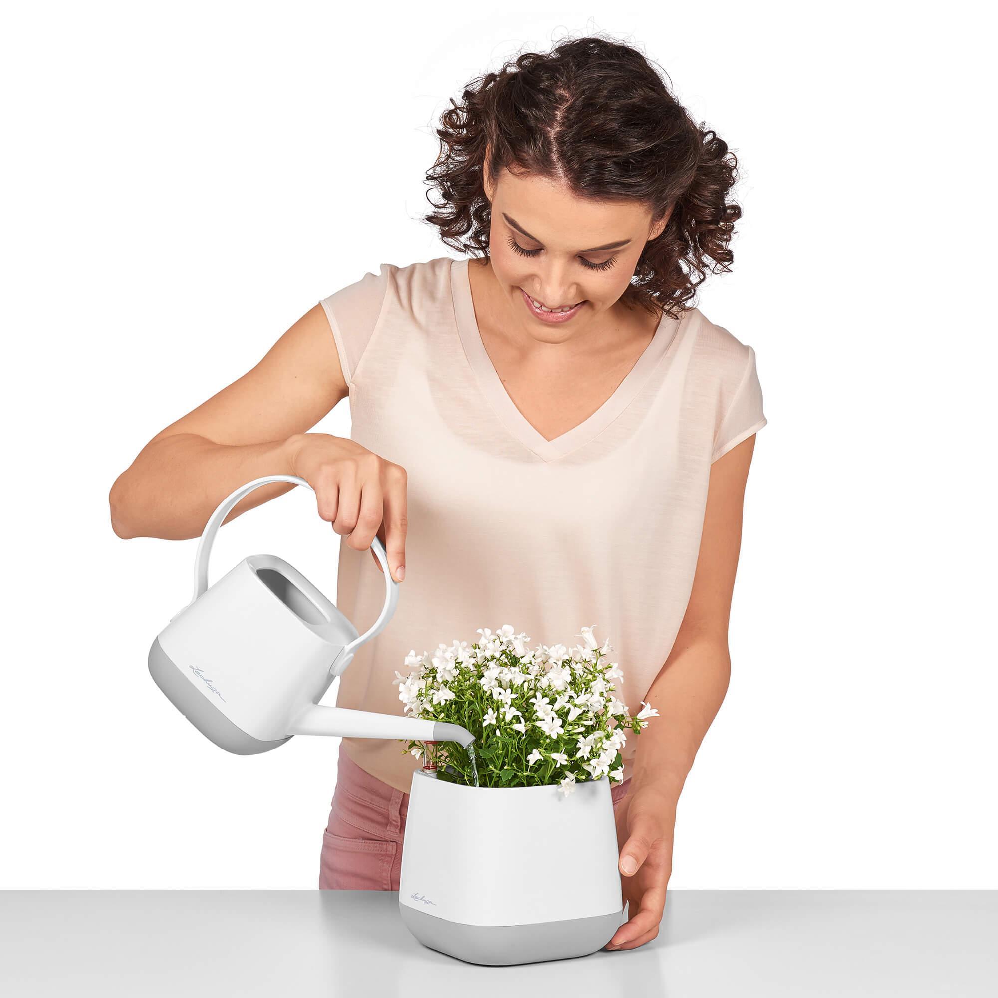 YULA planter white/gray semi-gloss - Image 11