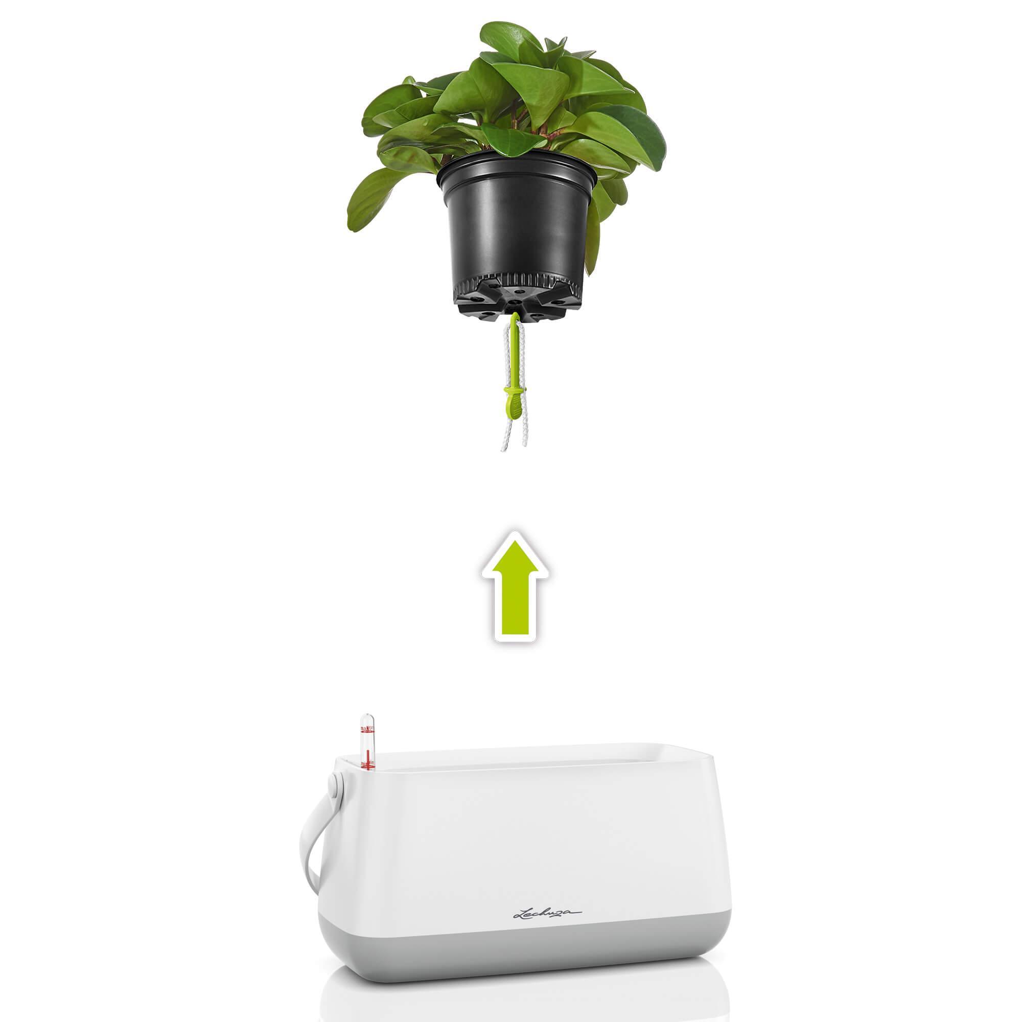 YULA plant bag white/gray semi-gloss - Image 3