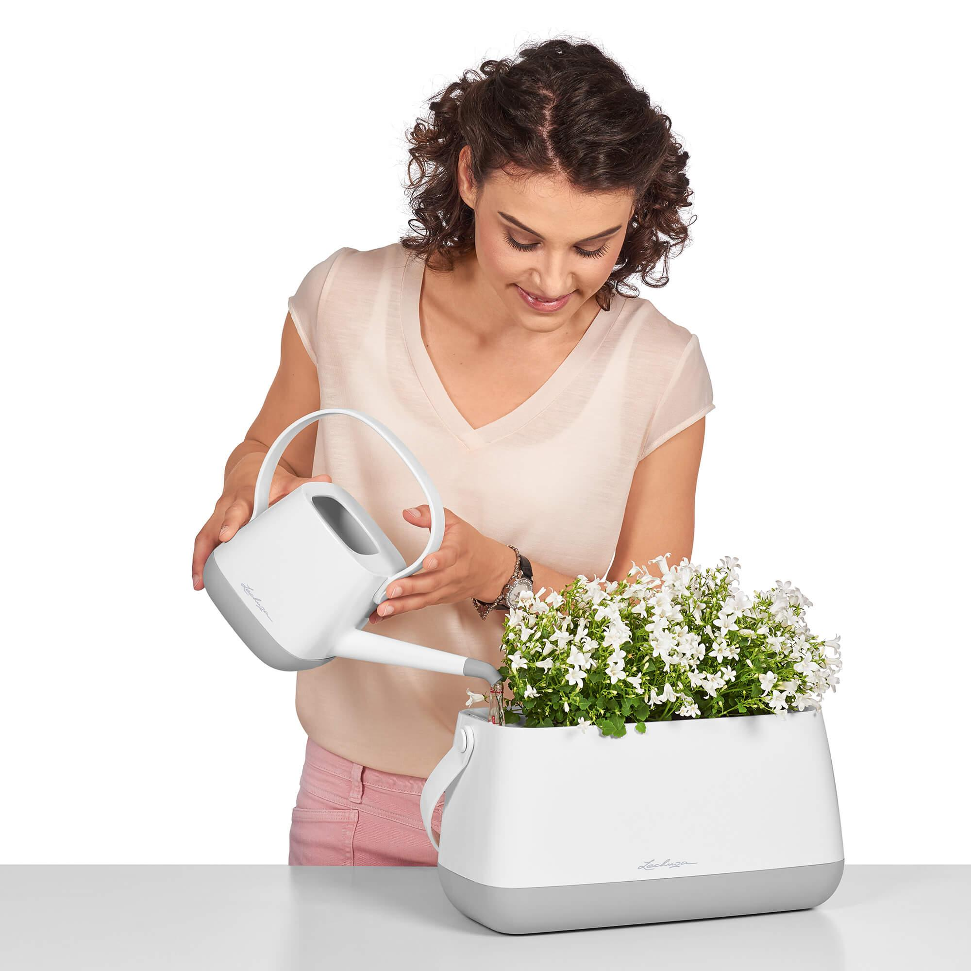 YULA plant bag white/gray semi-gloss - Image 11