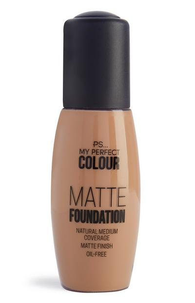 Mattierende Foundation in Toffee