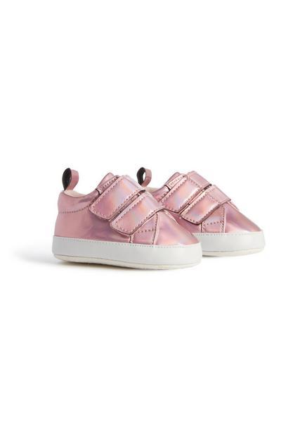 Rosa Metallic-Sneaker für Babys (M)