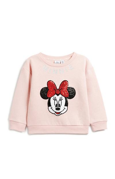 Younger Girl Minnie Mouse Sweatshirt