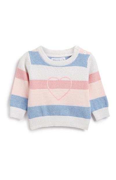 Gestreifter Pullover für Babys (M)
