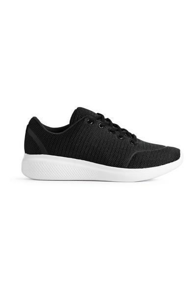 Schwarze Sneaker mit Glitzer