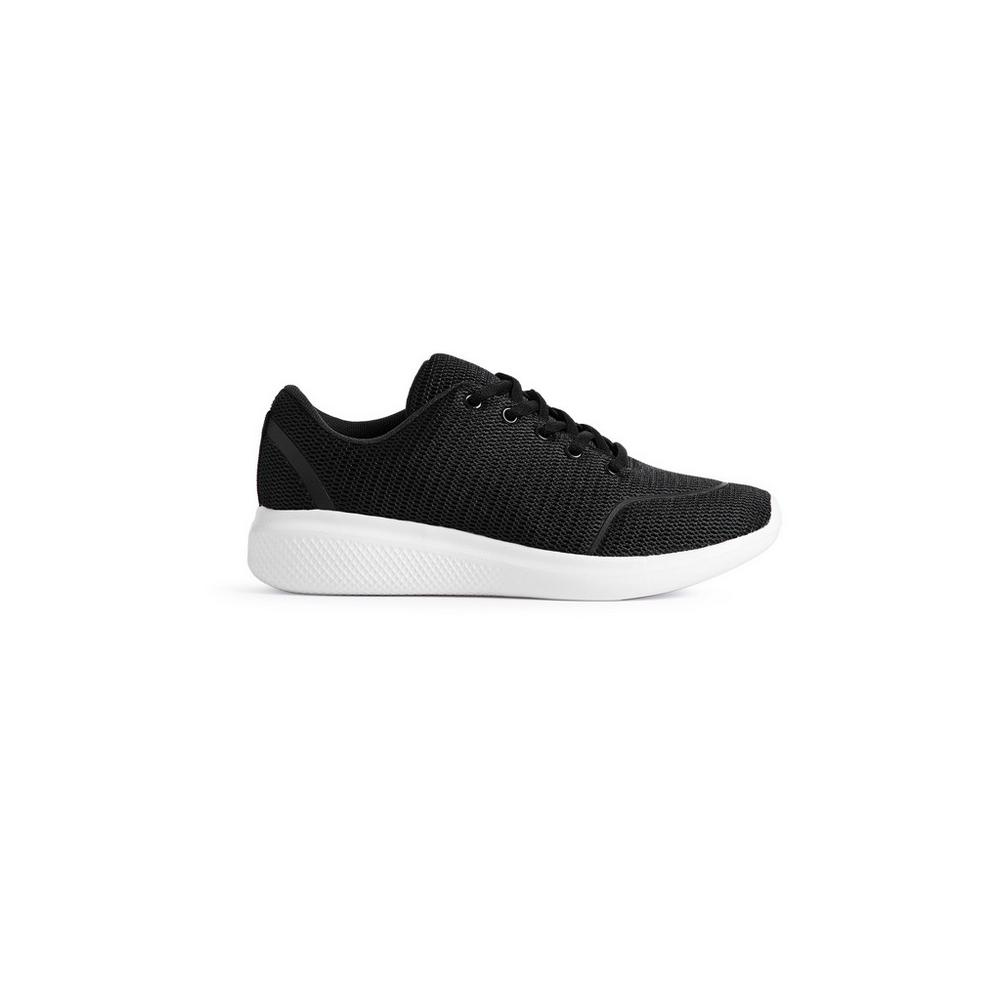 fedfdbd56df6 Black Glitter Trainer | Trainers | Shoes & Boots | Womens ...