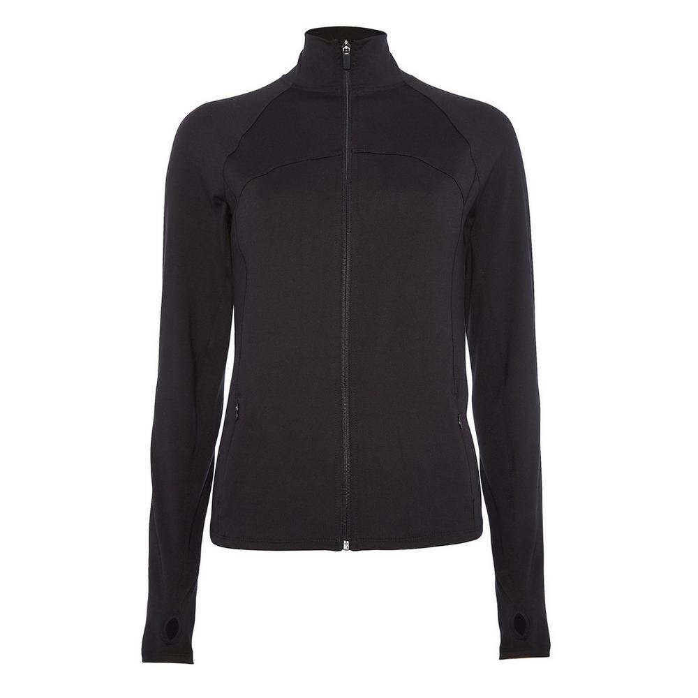 finest selection 554d5 35183 Schwarze Jacke mit Reißverschluss | Sportbekleidung für ...