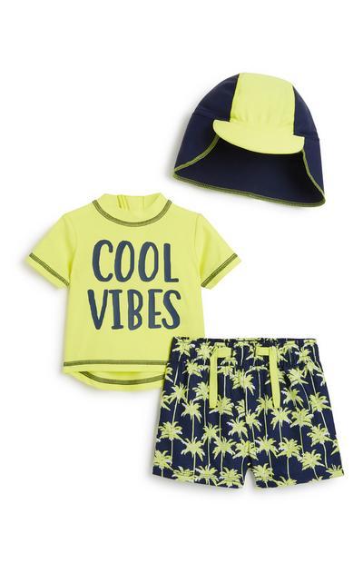 3-teiliges Bade-Outfit für Babys (J)