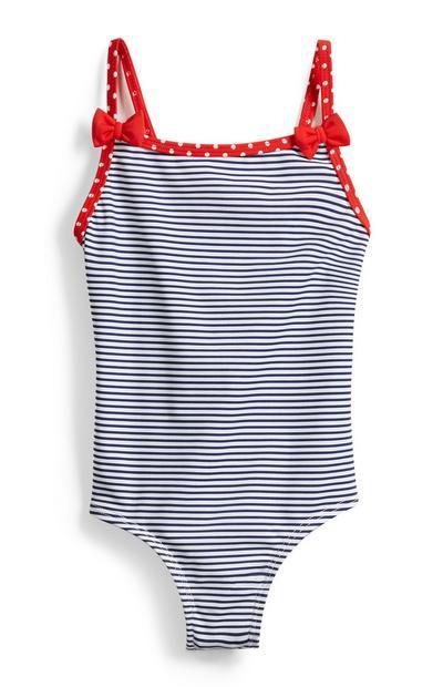 Gestreifter Badeanzug für Babys (M)