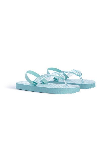 Eisblaue Flipflops (kleine Mädchen)