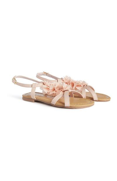 Sandalen mit Blumen (kleine Mädchen)