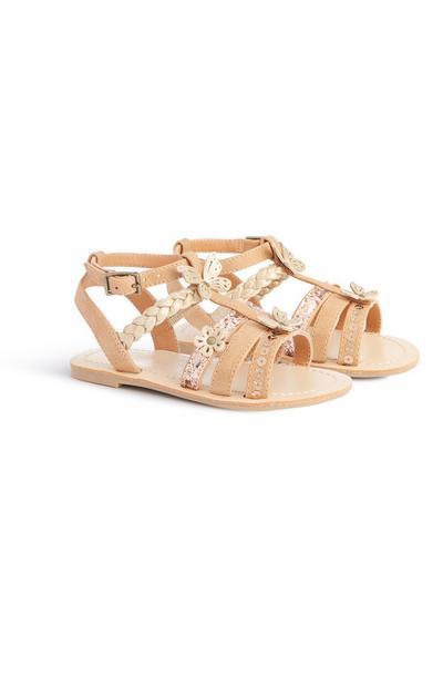 Sandalen mit Flechtdetail (kl. Mädchen)