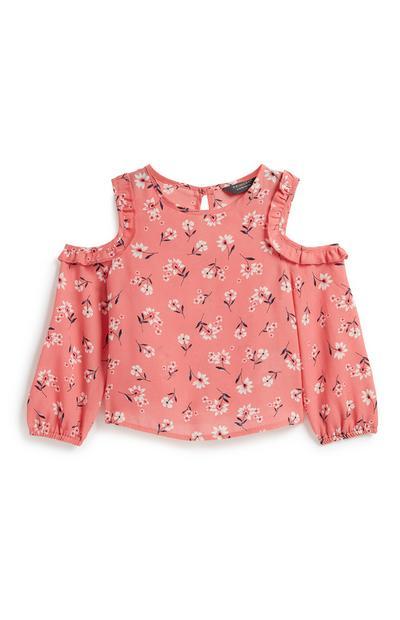 Bluse mit Blumenmuster (kleine Mädchen)