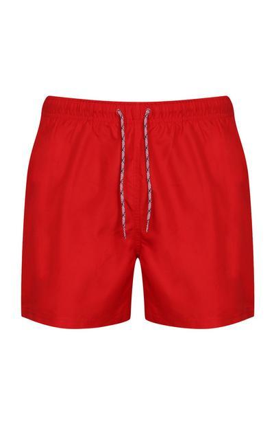 Rote Badeshorts