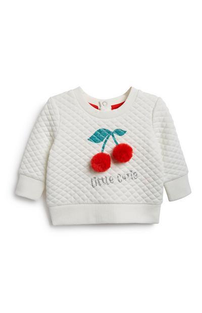 Sweatshirt m. Kirschenmotiv f. Babys (M)