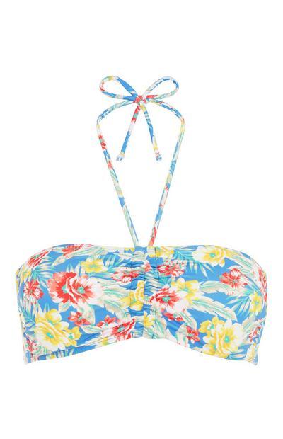 Bikinitop mit Blumenmuster