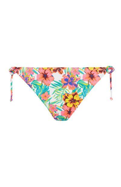 Bikinihose mit Blumenmuster