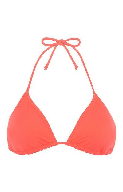 Orangefarbenes Bikinitop
