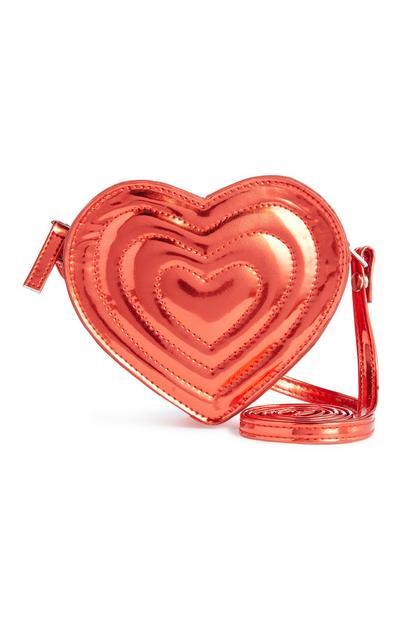 Herzförmige Mini-Tasche in Metallic