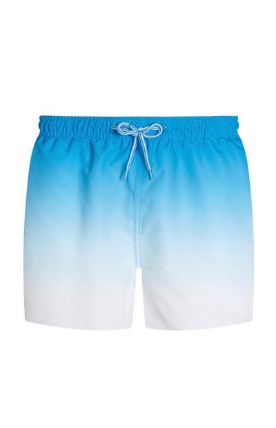 Blaue Badeshorts mit Farbverlauf
