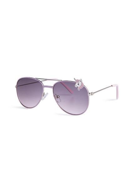 Sonnenbrille mit Einhörnern