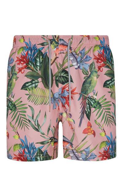 Rosafarbene Shorts mit Blumenmuster