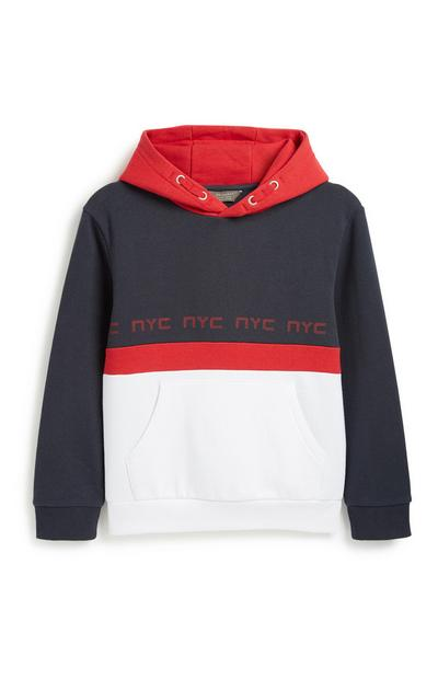 Older Boy Colour Block Hoody