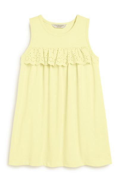 Zitronengelbes Kleid (kleine Mädchen)