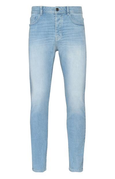 Helle Stretch-Jeans mit geradem Bein