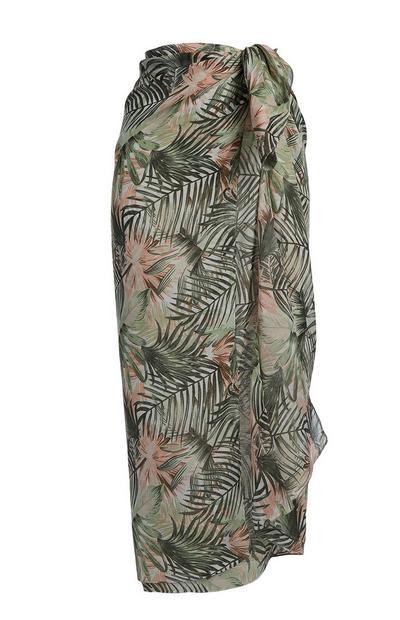 Sarong mit Blätterprint