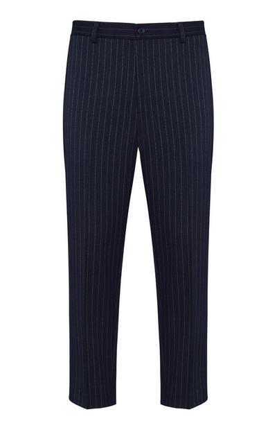Marineblaue Hose mit Streifen