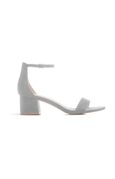 Grey Block Heel Sandal