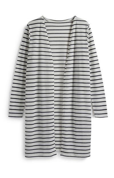 Stripe Long Cardigan