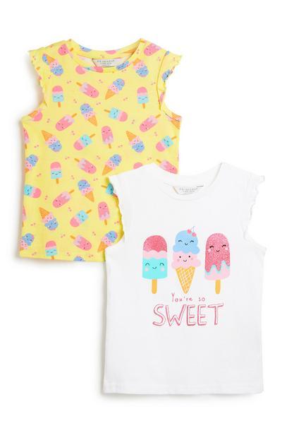 Top mit Eistüten (kl. Mädchen), 2er-Pack