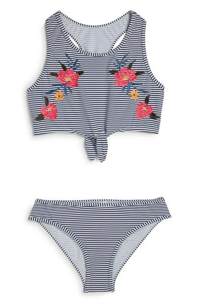 Gestreifter Bikini (Teeny Girls)
