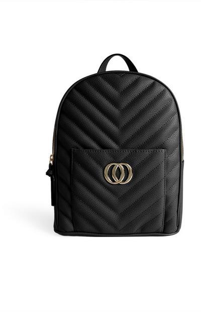 Schwarzer Rucksack mit Unendlichzeichen